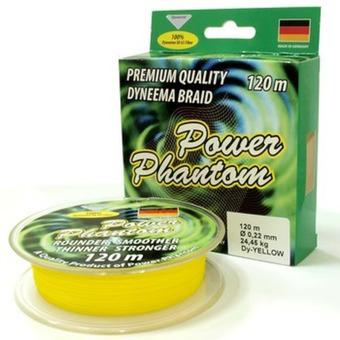 Шнур плетеный Power Phantom 4x 0,14 120 м. Желтый