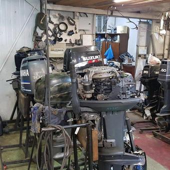 Разборка и ремонт лодочных моторов.